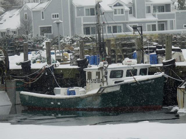 Stonington Harbor in Winter