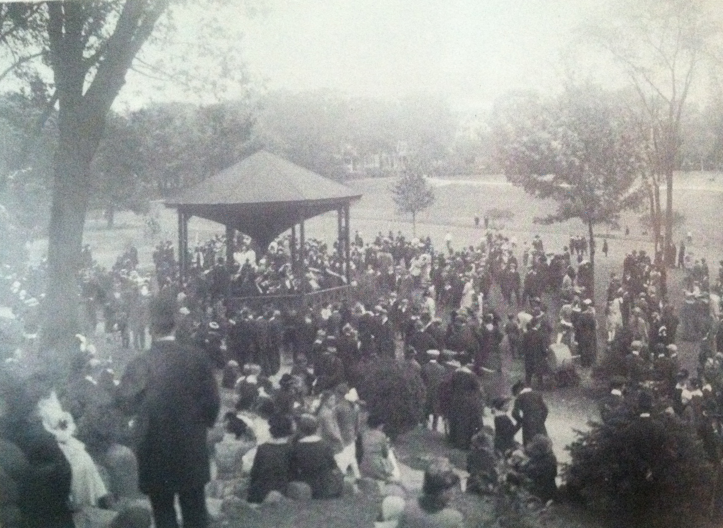The Westerly Band in Wilcox Park.