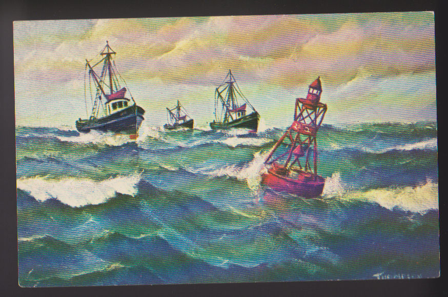 Fishing Trawlers Heading Into Port