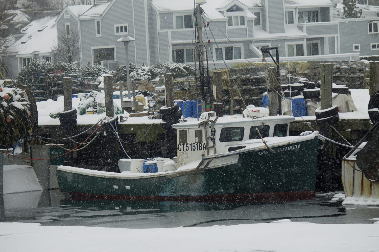 Stonington Harbor in Winter